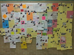 That's right! An entire wall at the school is all about me!